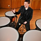 Percussionist Neal Goggins on location at San Jose State University | San Jose, USA