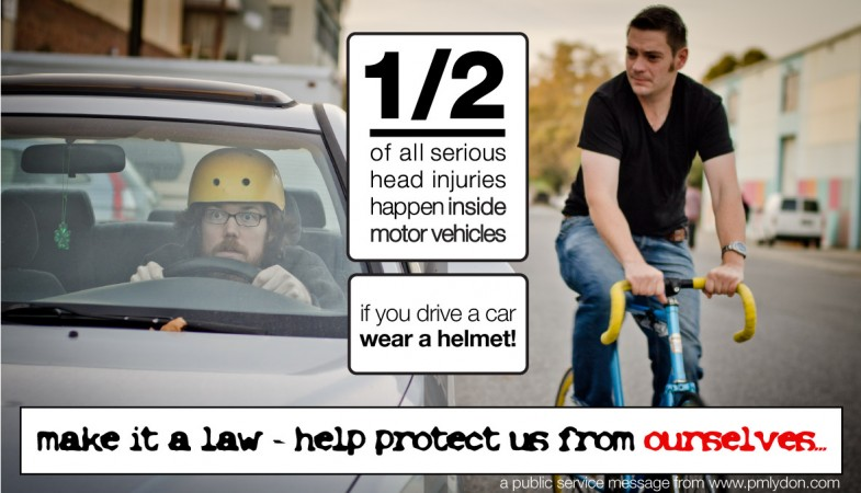 Help Protect us from Ourselves: Car Helmet Law (P.M. Lydon)