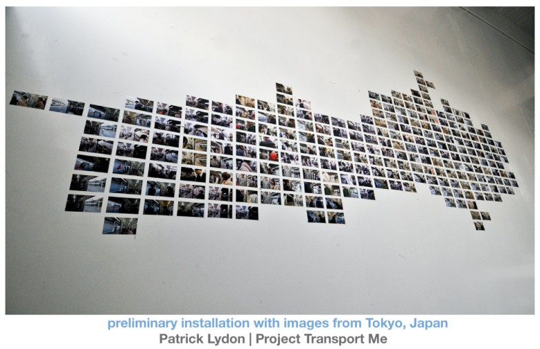 Preliminary installation with images from Tokyo, Japan - photographs: Patrick Lydon