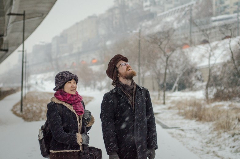 Welcoming the new year's... snow? In Seoul, South Korea (P.M. Lydon, 2013)