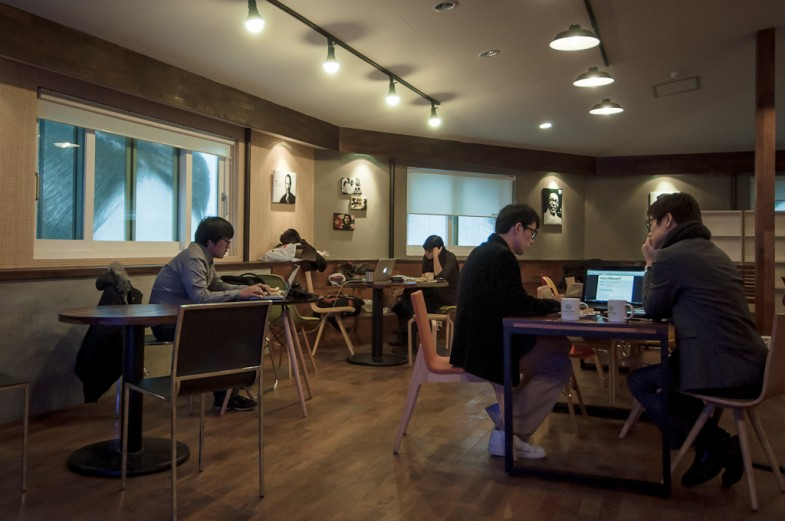 The Connect Hall co-working area at Space Noah in Seoul