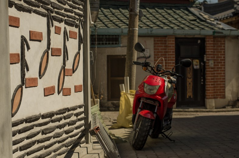 Musical wall in the Pirun-dong neighborhood of Seoul, South Korea (photo: P.M. Lydon | 2013)