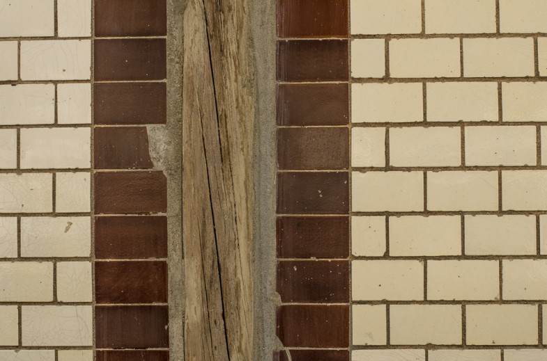 Tiled wall in the Pirun-dong neighborhood of Seoul, South Korea (photo: P.M. Lydon | 2013)