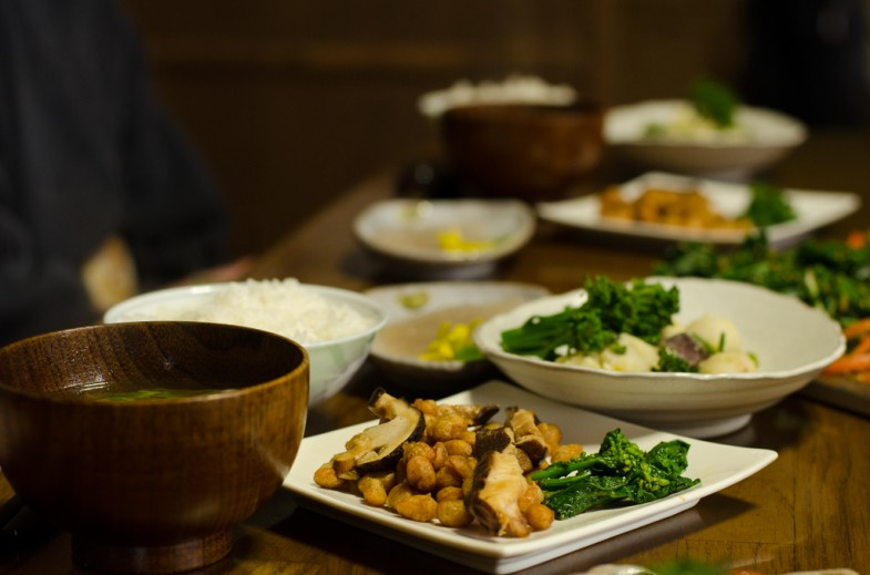 A natural agriculture dinner at Yoshino farm in Chiba Prefecture, Japan