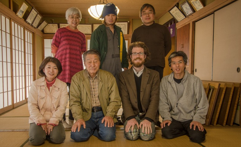 The group at Yamamoto natural agriculture farm in Inashiki, Japan