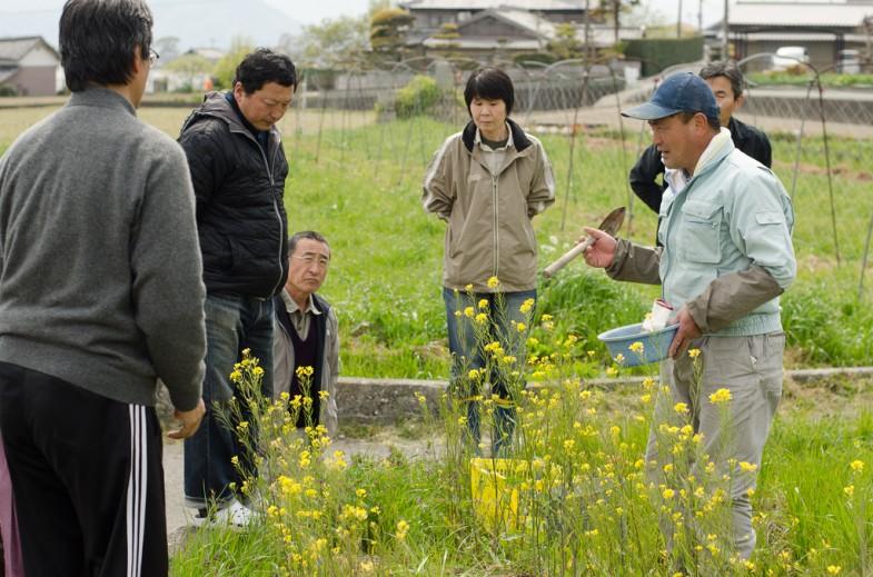 Monthly farm class at Mr. Okitsu's Natural Farm in Tokushima, Shikoku, Japan