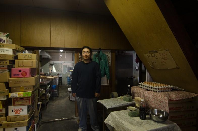Youji at the small Udon shop in Kagawa