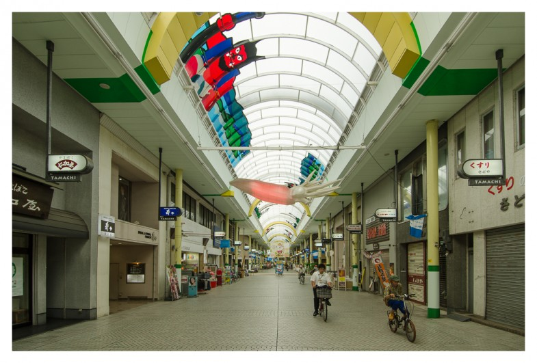 The 2.7km long shopping arcade in Takamatsu, Japan