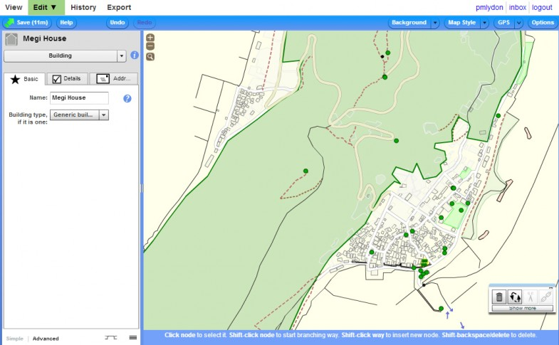 Editing the Megijima Map with Potlach / Open Street Maps